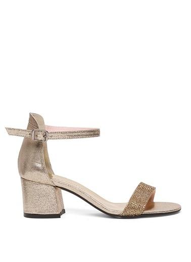 Sole Sisters Kısa Topuklu Sandalet Altın - Narez2 Sarı